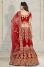 Red Lehenga With Detailed Embroidery