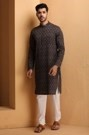 The Printed Blue Kurta for Your Casual Look