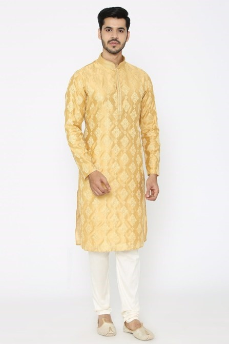 A Mustard Yellow Color Kurta set is Perfect for Any Parties