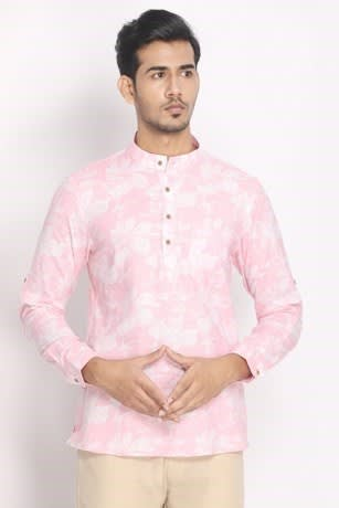 Cotton Textured Printed Short Kurta Perfect for Daytime Look