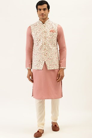 Fashionable Kurta Jacket Set