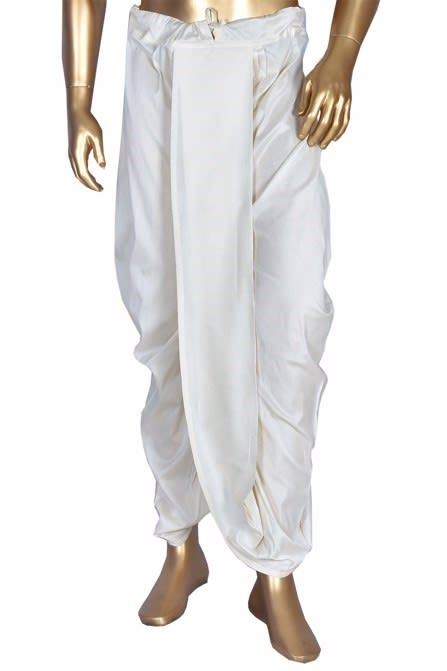 Simple Off White Dhoti
