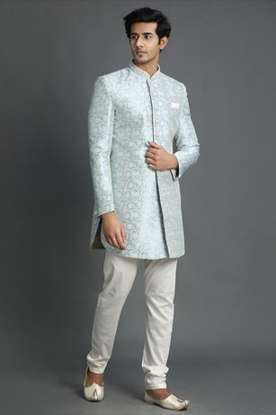 Dreamy Blue indo western set