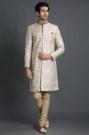 Marvelous Embroidered Sherwant Set