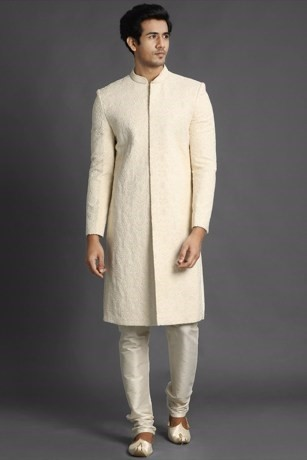 Refined All Over Embroidered Sherwani Set