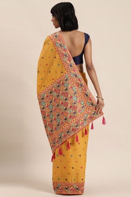 TRADITIONAL EMBROIDERED SAREE