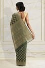 GREEN EMBROIDERED SAREE