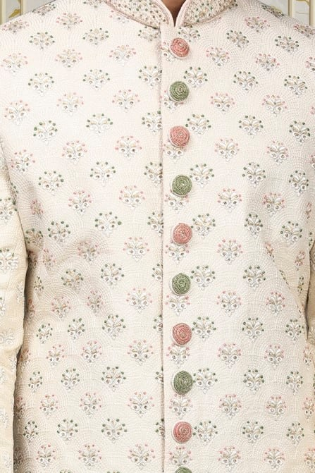 Suave Biscuit Color Sherwani