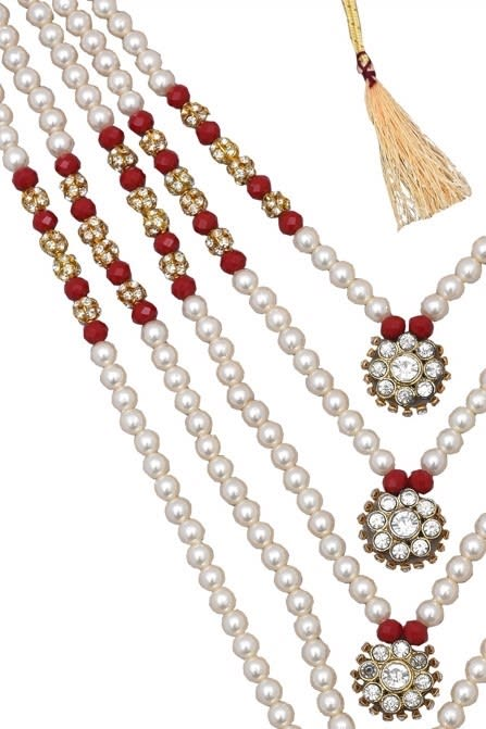 Layered Gold and Red Mala