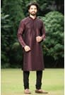 Pantone Wine Color Kurta With Black Churidar