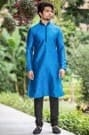 Blue Kurta Churidar For Royal Look