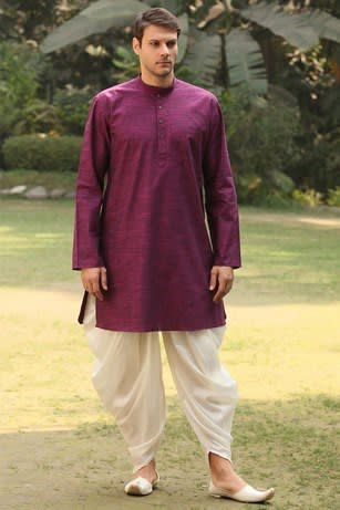 Trendy Wine Kurta