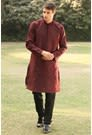 Stylish Maroon Kurta for Mehndi