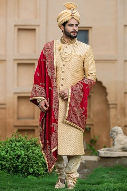 Heavy Embroidered Sherwani perfect for Wedding