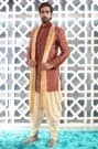 Dressy Indo-Western Outfit Highlighted with Maroon Velvet