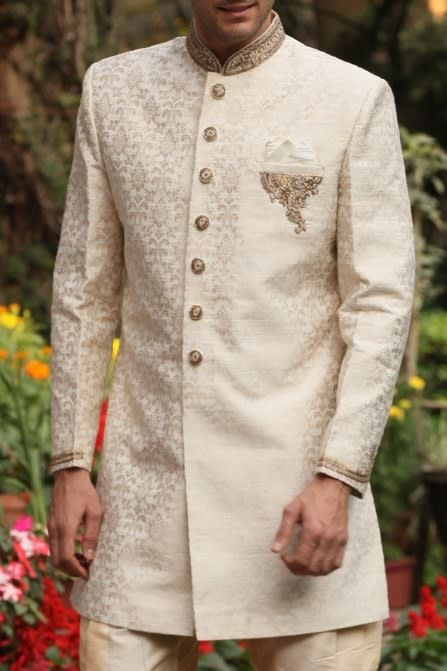 Well Tailored Zardozi Indo Western Outfit
