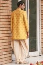 Traditional Yellow Indo Western