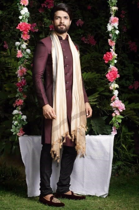 Elegant Wine Indo Western Outfit