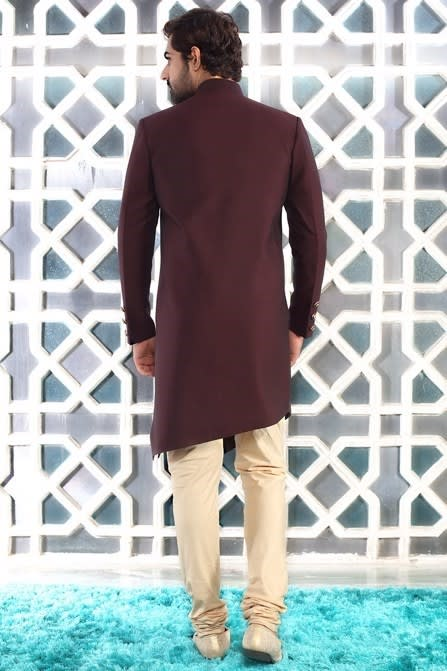 Asymmetric Solid Indo Western Outfit