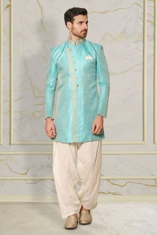 Blissful Blue Embroidered Indo Western