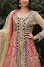 Heavy Embroidered Exquisite Blue & Rani Suit